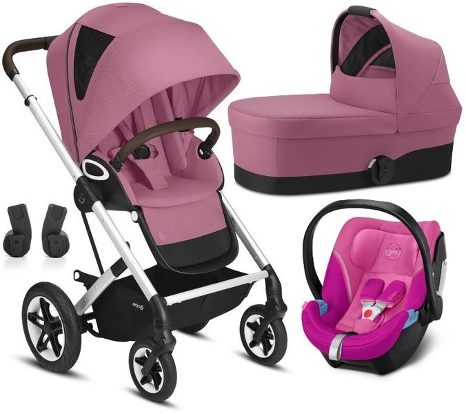 Cybex Talos S Lux Magnolia Pink + Aton 5 Bērnu rati 3in1