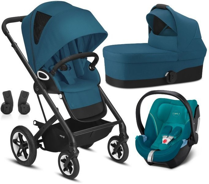 Cybex Talos S Lux River Blue + Aton 5 Bērnu rati 3in1