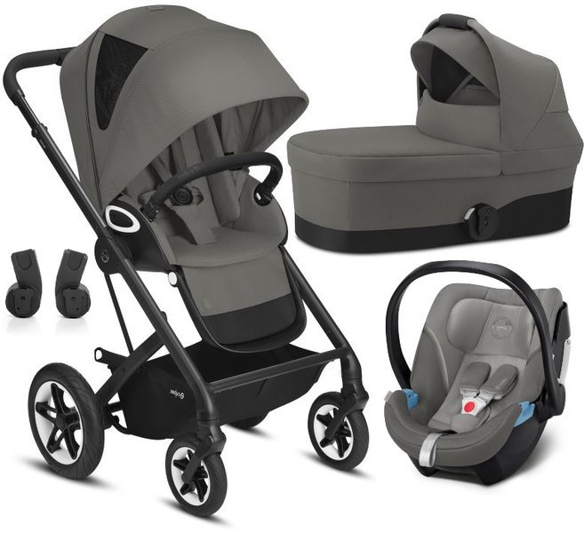 Cybex Talos S Lux Soho Grey + Aton 5 Bērnu rati 3in1
