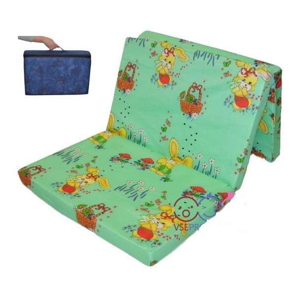 Danpol Ceļojuma Matracis gultiņām 120x60 cm + soma
