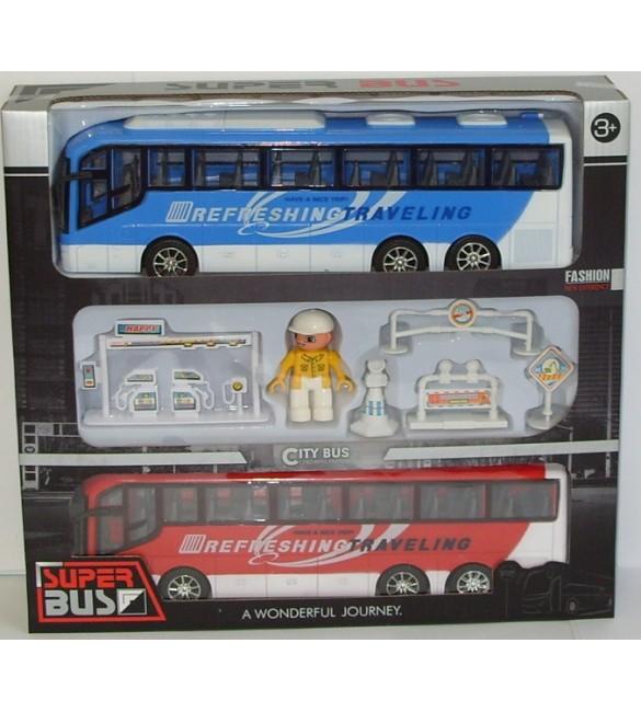 Divi autobusi ar cilvēciņu 38x35x9cm SA828-C2