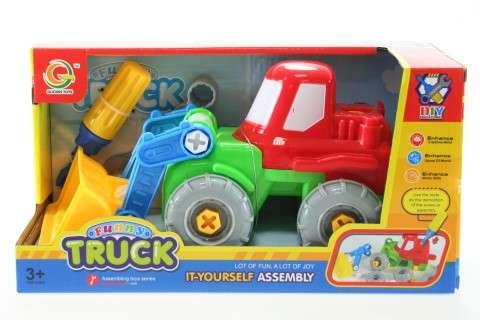 DIY Toys Konstruktors traktors ar instrumentiem izjaucams