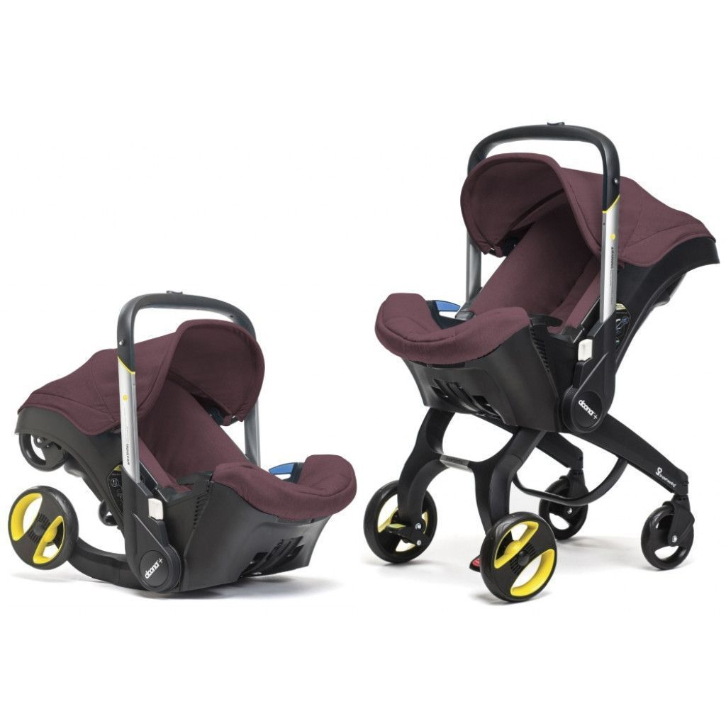 Doona Infant Car Seat & Stroller Burgundy Autosēdeklis - ratiņi 2in1