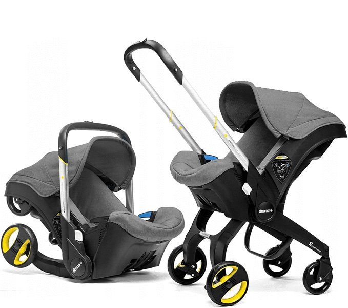 Doona Infant Car Seat & Stroller Grey Autosēdeklis - ratiņi 2in1