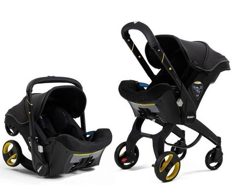 Doona Infant Car Seat & Stroller Midnight Autosēdeklis - ratiņi 2in1
