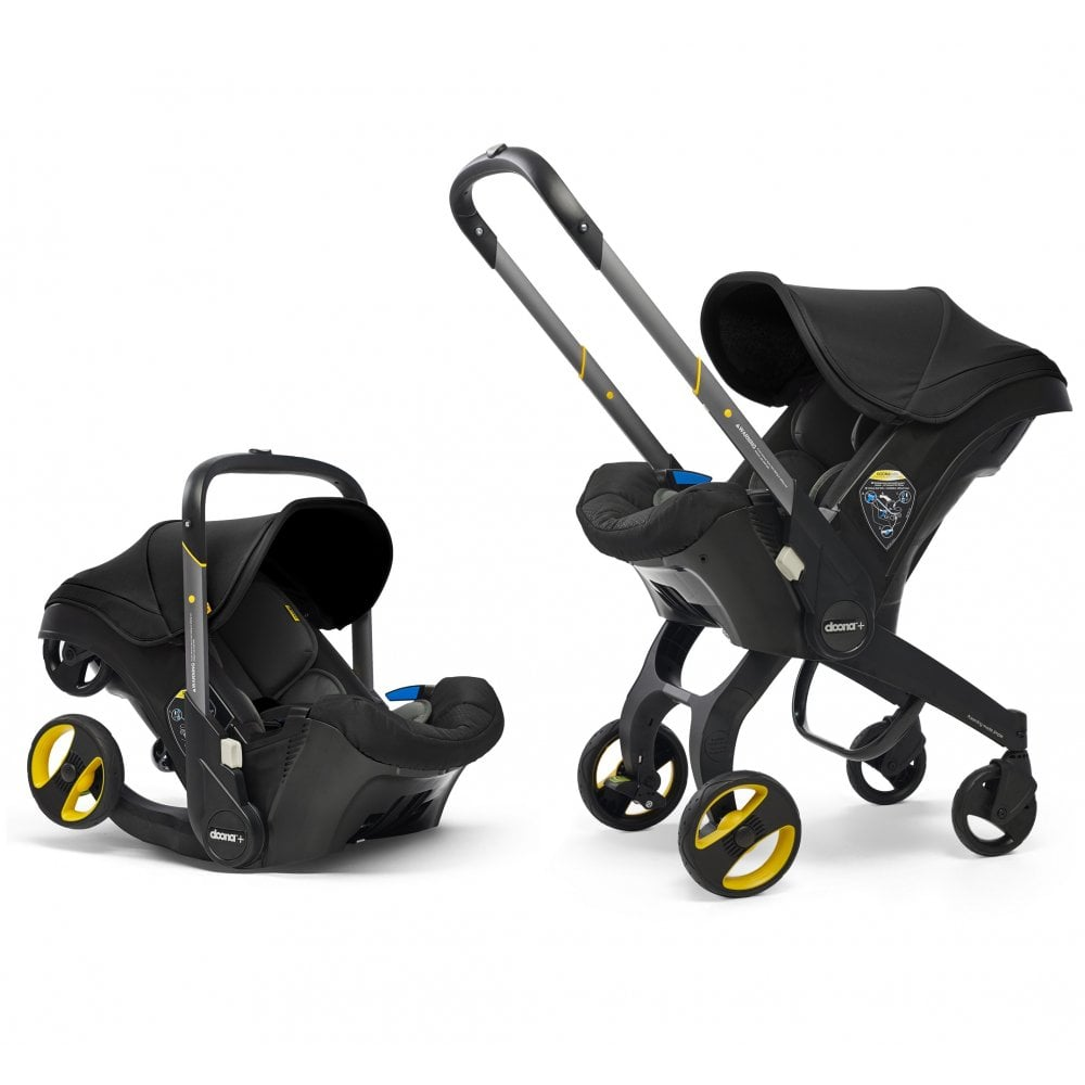 Doona Infant Car Seat & Stroller Nitro Black Autosēdeklis - ratiņi 2in1