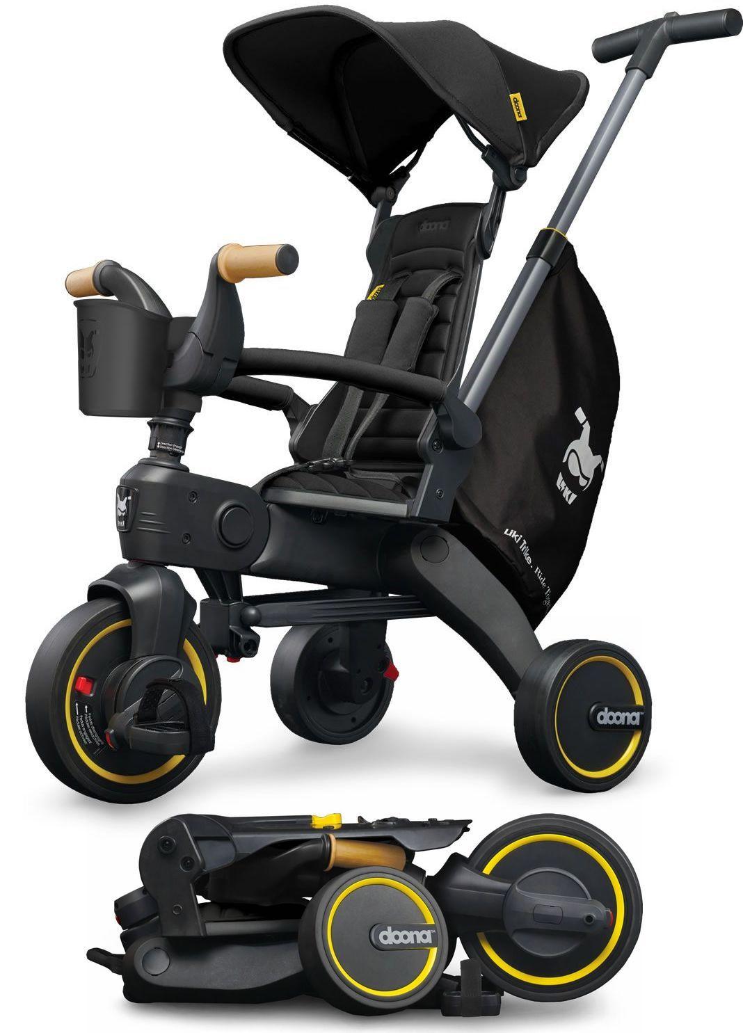 DOONA Liki S5 Nitro Black Bērnu trīsritenis