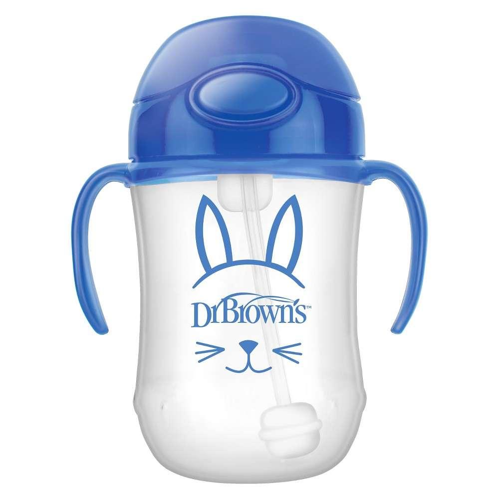 Dr.Browns First Straw Cup Mācību krūzīte ar salmiņu un atsvaru no 6 mēnešu vecuma,  270ml