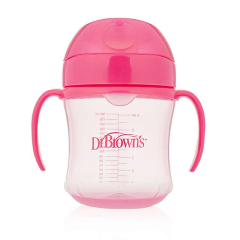 Dr.Browns Soft Spout Pink Pudelīte ar mīksto snīpi, 180ml