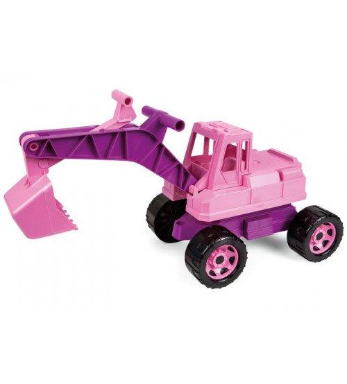 Ekskavators rozā krāsa meitenēm 65 cm Čehija L02137