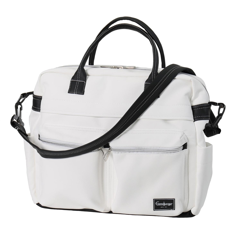 Emmaljunga Travel Lounge White Leatherette ratiņu soma