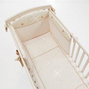 Erbesi Cuore Cream Bērnu gultas veļas komplekts no 3 daļām