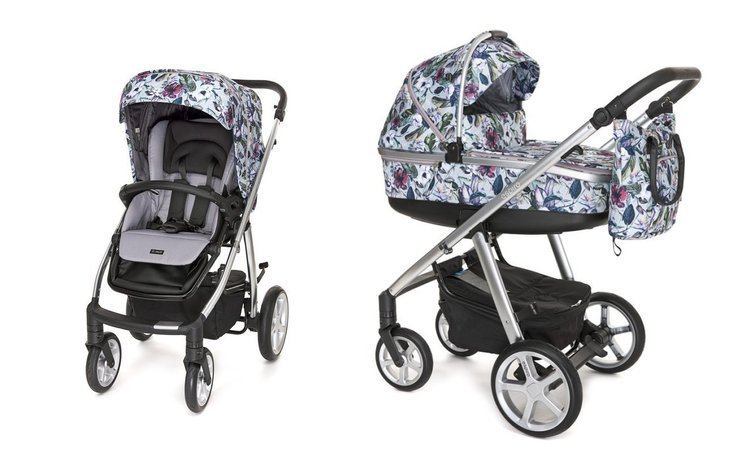 Espiro Next 2.0 Limited Edition Flower 460 Bērnu ratiņi 2in1
