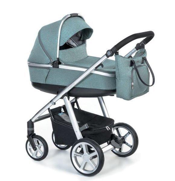 Espiro Next 2.1 Melange 05 turquoise island Bērnu ratiņi 2in1