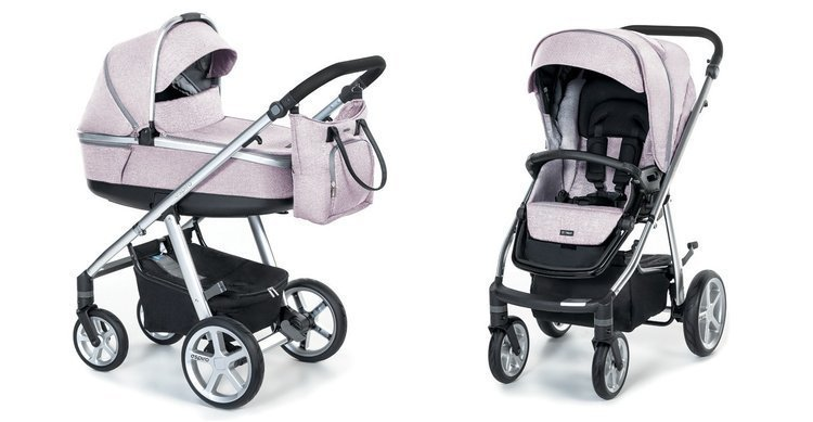 Espiro Next 2.1 Melange Pink 08 Bērnu ratiņi 2in1