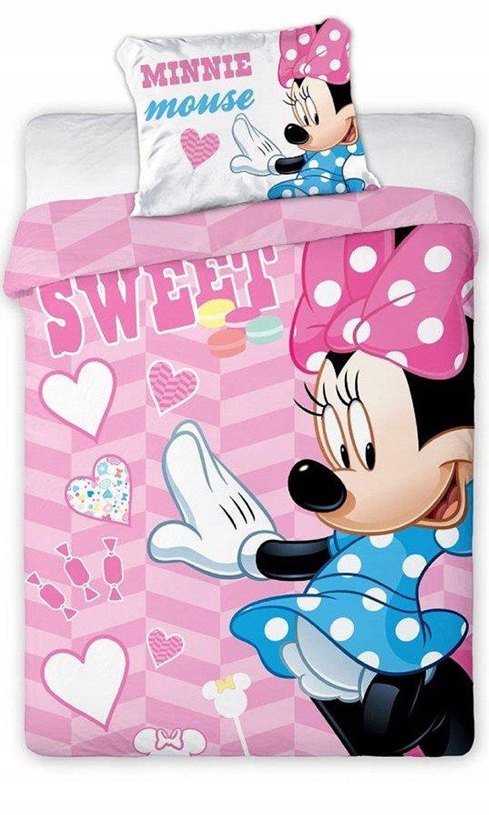 Faro Minnie Mouse Kokvilnas gultas veļas komplekts no 2 daļām 100x135