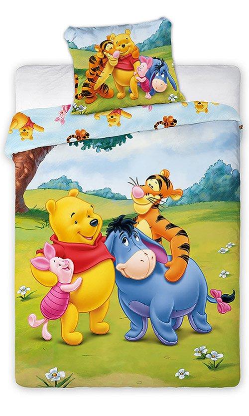Faro Winnie the Pooh Kokvilnas gultas veļas komplekts no 2 daļām 100x135