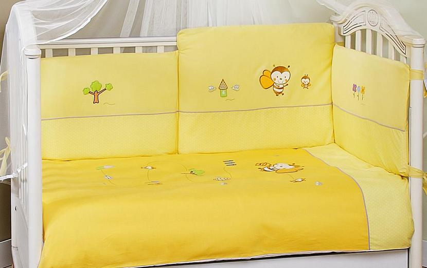 FERETTI Bērnu gultas kokvilnas veļas komplekts Bee Honey Prestige DUETTO 2