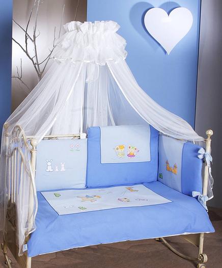 FERETTI Bērnu gultas kokvilnas veļas komplekts Romeo Blue Prestige DUETTO 2