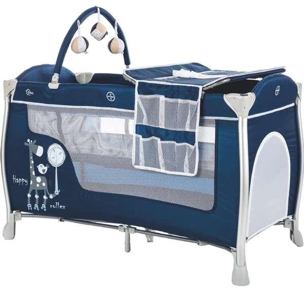 Fillikid  Alu Darkblue Divlīmeņu bērnu ceļojumu gultiņa