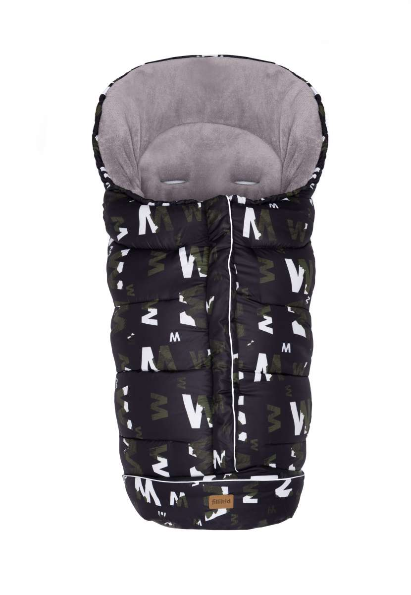 Fillikid K2 Sleeping Bag Melange Print Bērnu Ziemas Siltais Guļammaiss 100x50 cm