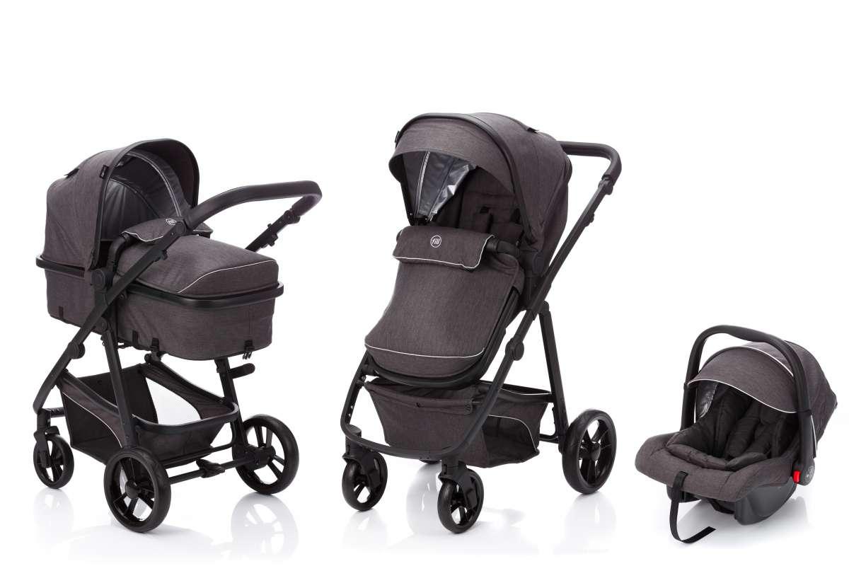 Fillikid Panther Dark Grey Universālie bērnu ratiņi 3 in 1