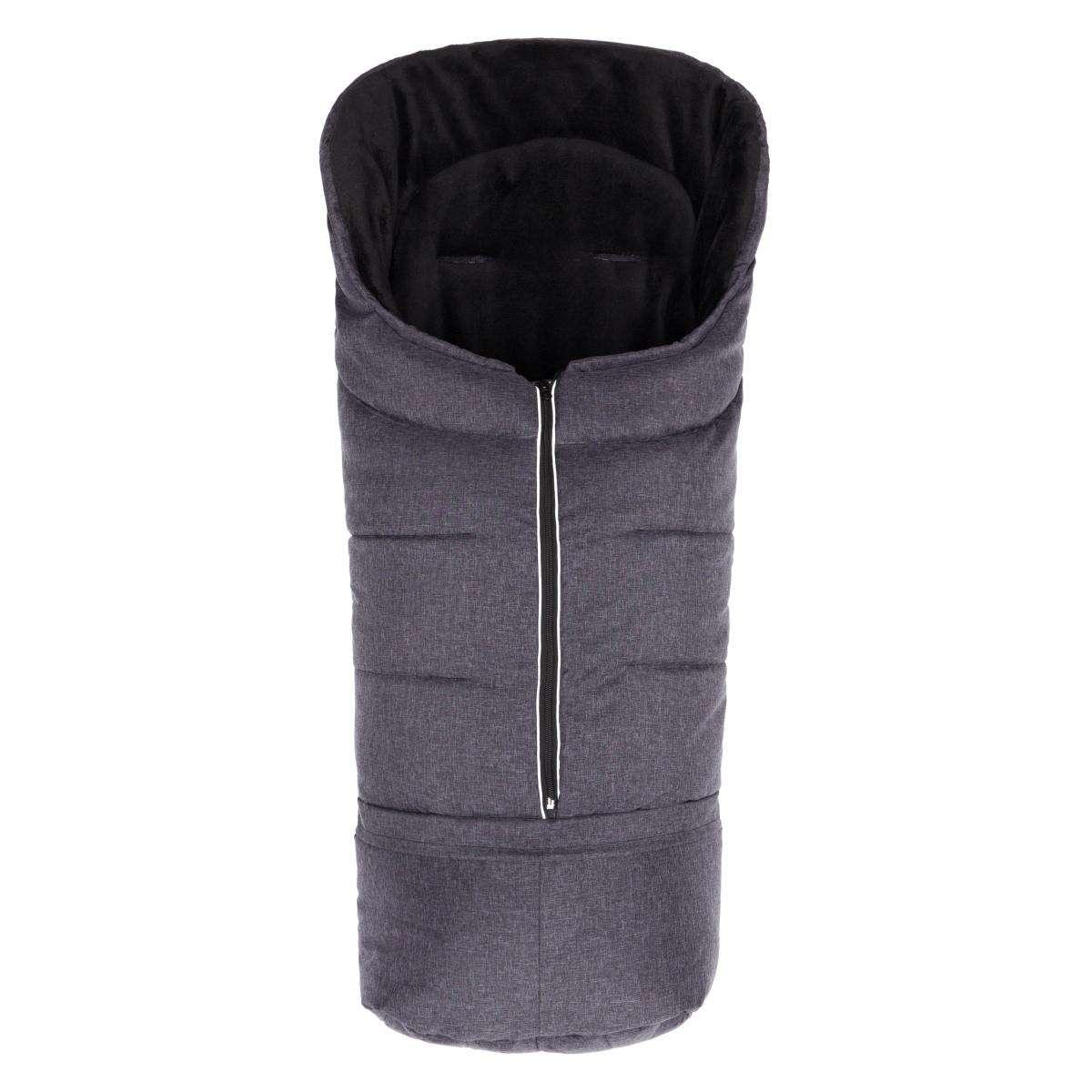 Fillikid Sleeping Bag Mellange Dark Grey Bērnu ziemas siltais guļammaiss 100x45 cm