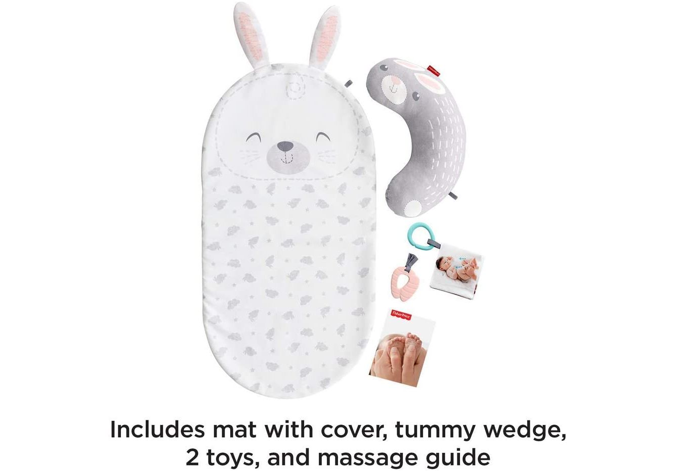 Fisher Price Baby Bunny Massage Set GJD32 Rotaļu paklājiņš