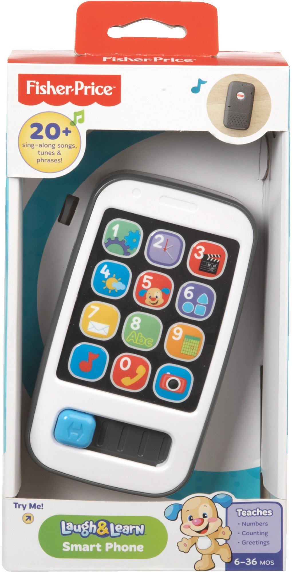 Fisher Price Laugh & Learn Smart Phone - LAT DLM32 Mūzikalā rotaļlieta Telefons (lat.val.)