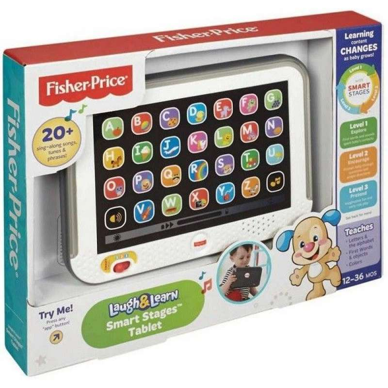 Fisher Price Laugh & Learn Smart Stages Tablet - LV DLM39 Attīstošā bērnu planšete (lat.val.)