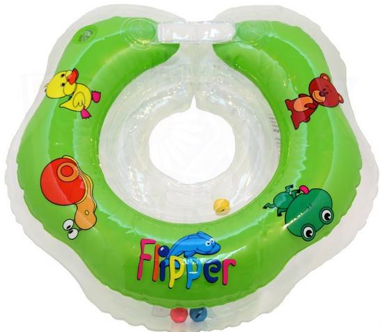 Flipper Peldriņkis ap kaklu peldēšanai 0 -24 mēnešiem slodzei no 3-18 kg