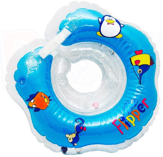 Flipper Peldriņķis mazuļiem (piepūšams riņķis ap kaklu peldēšanai) 0 -24 mēnešiem (slodzei no 3-18 kg)