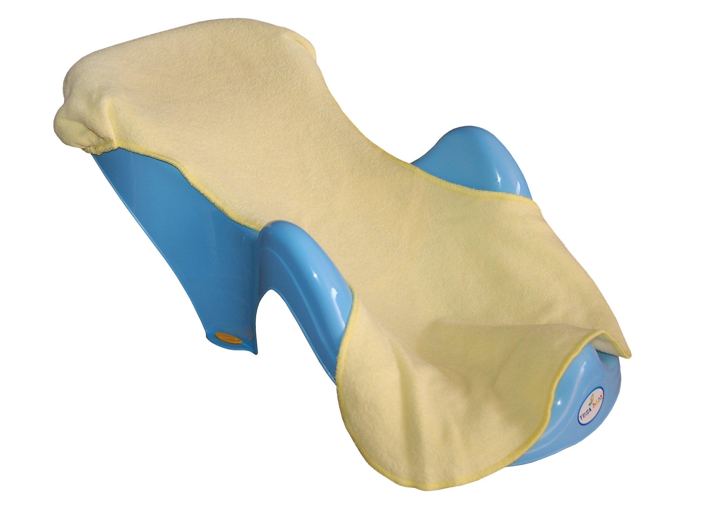 Frotē pārvalks vannas sēdeklim Tega Baby light yellow TG-070