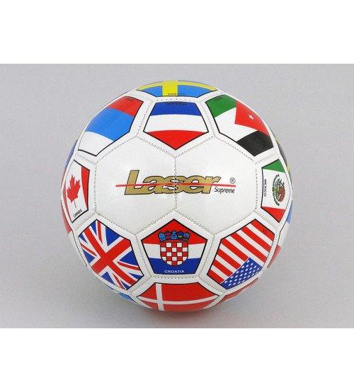 Futbola bumba Laser 437296 Ar dažādiem karogiem