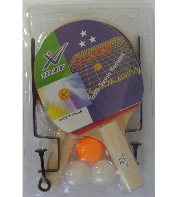 Galda tenisa komplekts:raketes ,tīkls un 3 bumbiņas TAAT-304