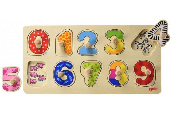 Goki Puzzle Numbers Koka puzle Cipari