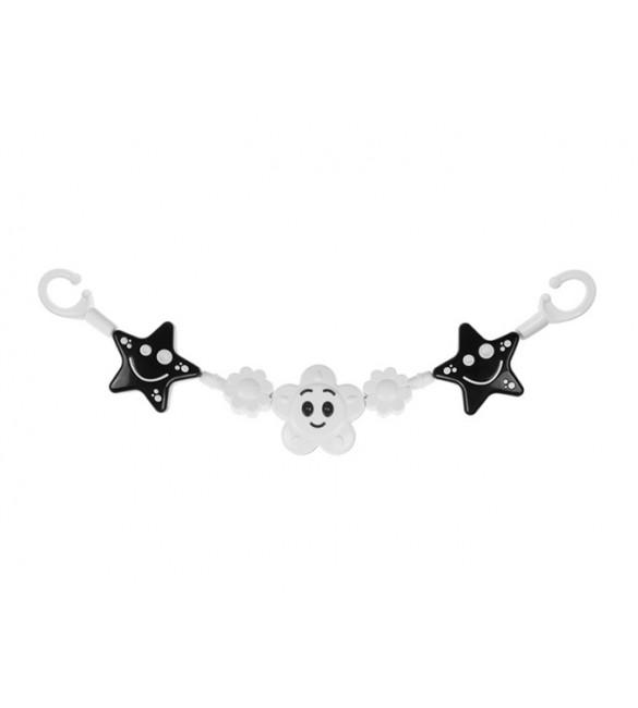 Grabuļi bērnu ratiņiem TULLO BLACK&WHITE STARS TULLO-151