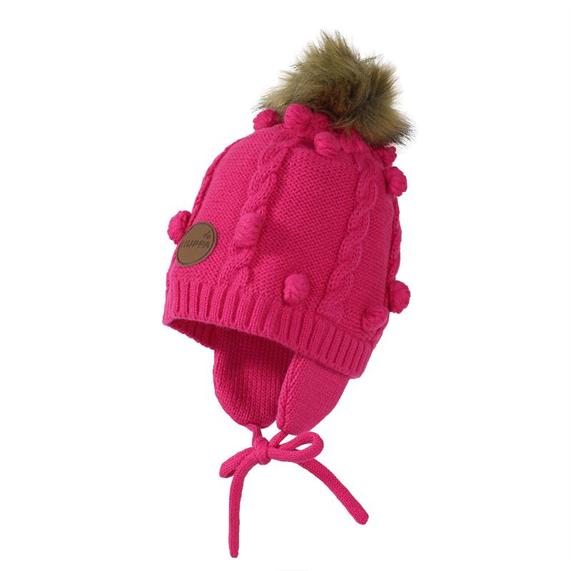 Huppa Macy Mazuļu adīta ziemas cepure ar kokvilnas oderi