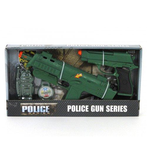 Ieroču komplekts (2 pistoles uz baterijām) 39x21x4.5 cm 511200