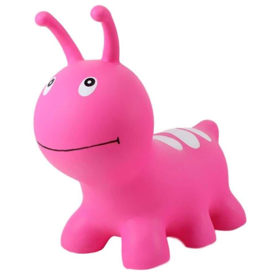 Jumpy Hopping Inchworm Pink Rotaļlieta lēkšānai un balansam