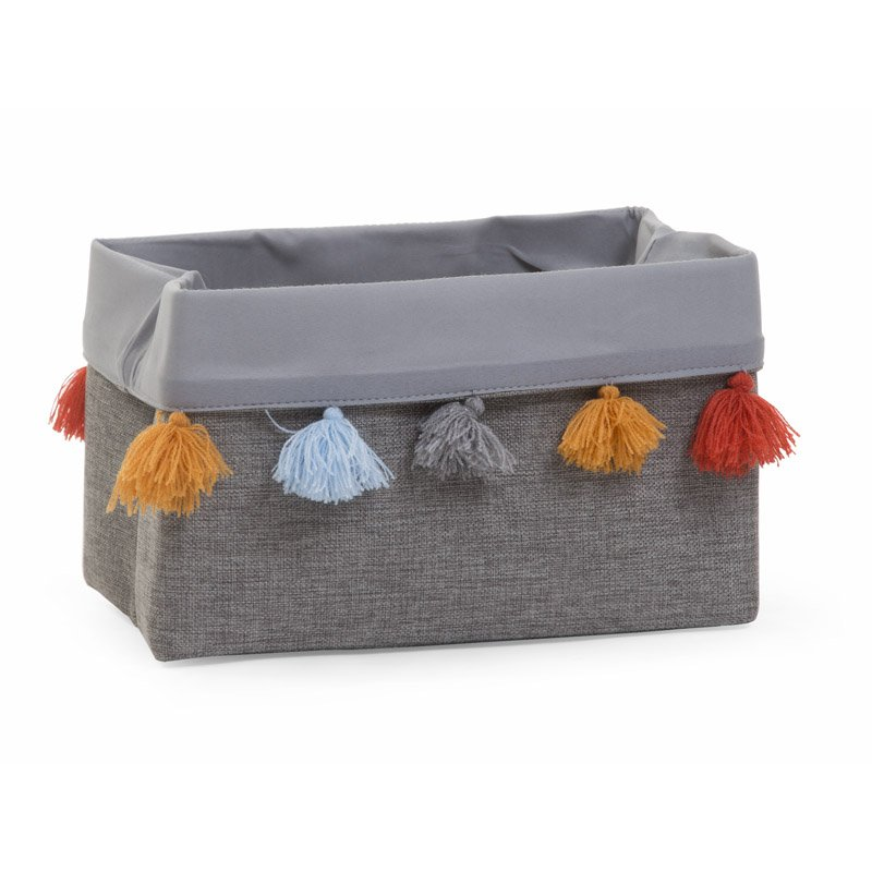 Kaste mantu glabāšanai 32x20x20 cm CHILDHOME Canvas box dark grey