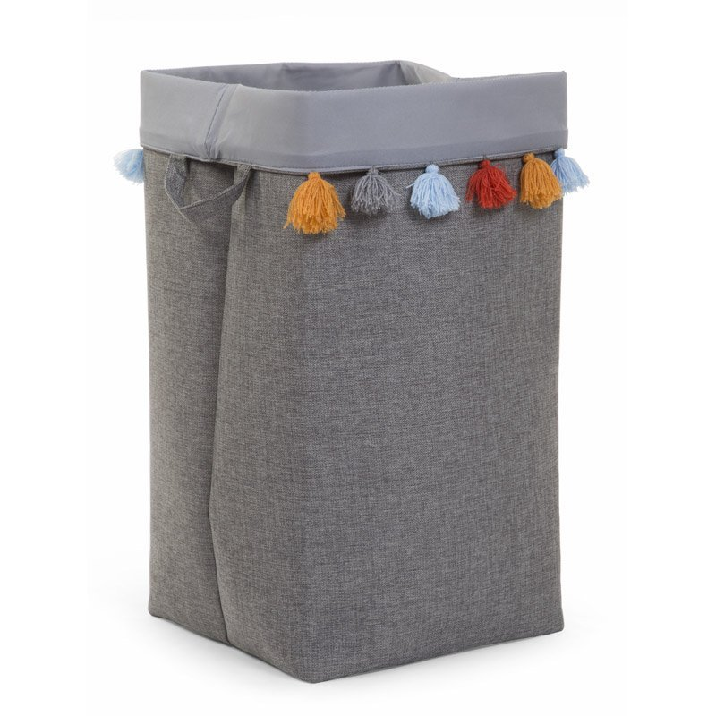 Kaste mantu glabāšanai 32x32x60 сm CHILDHOME Canvas box dark grey