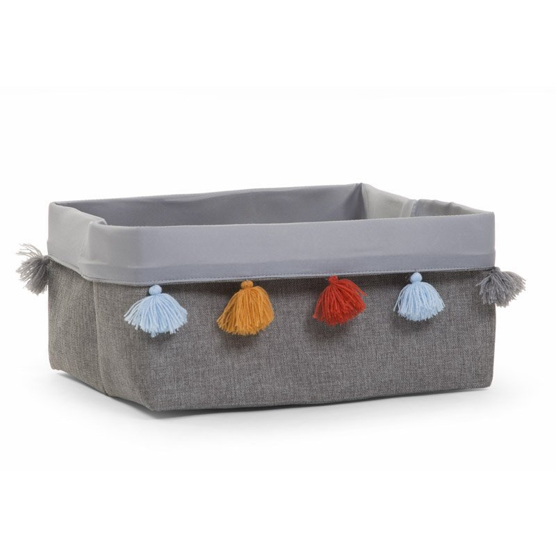 Kaste mantu glabāšanai 40x30x20 см CHILDHOME Canvas box dark grey