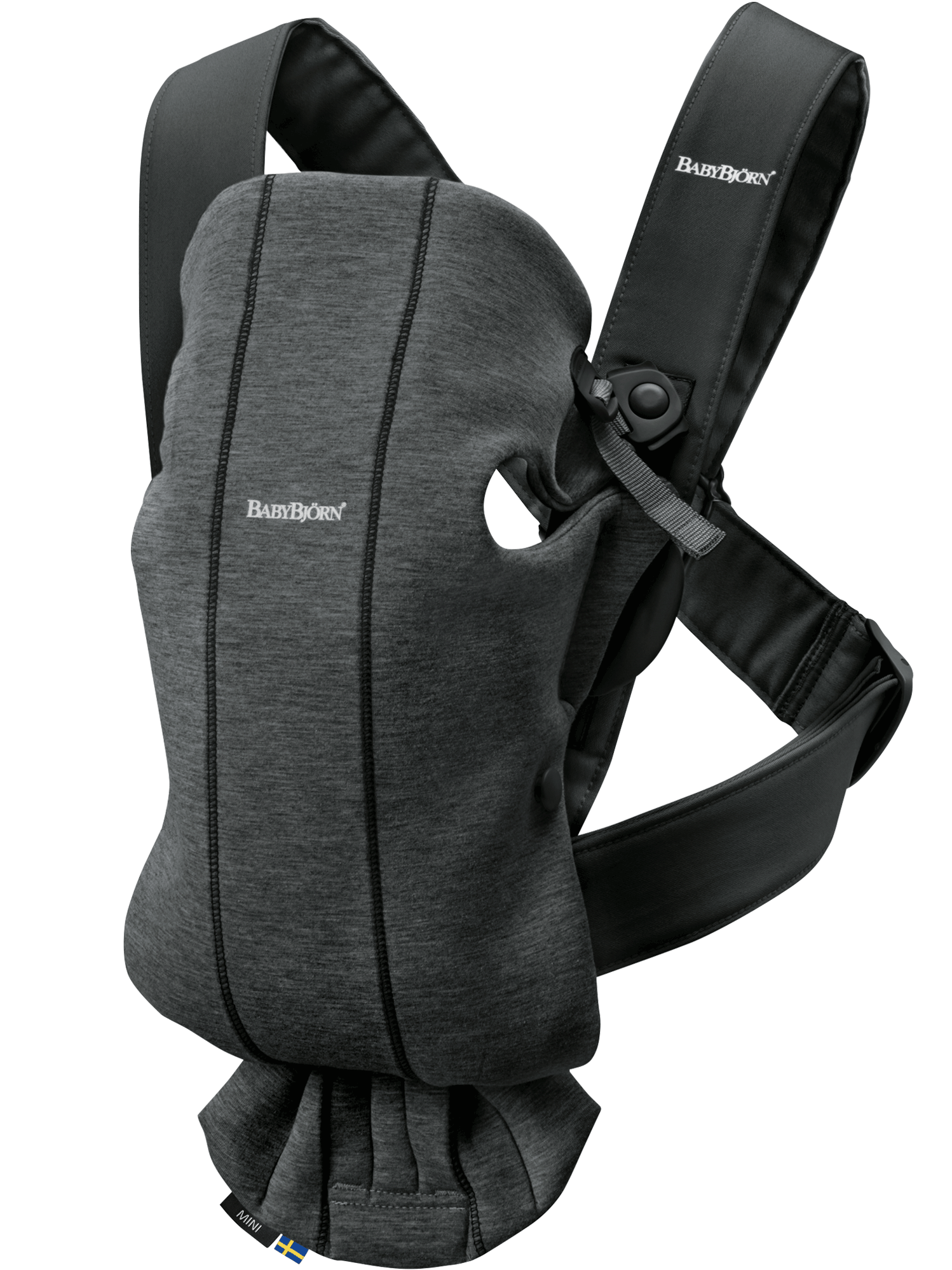Ķengursoma BabyBjorn Baby Carrier Mini Charcoal grey 3D Jersey