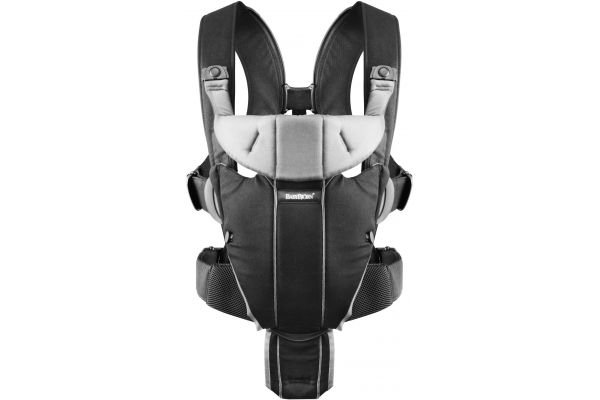 Ķengursoma BabyBjorn Baby Carrier MIRACLE Cotton Mix black/silver 09606