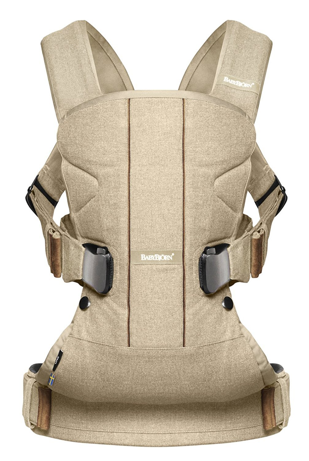 Ķengursoma BabyBjorn Baby Carrier ONE Cotton Mix Birchwood Beige 93078