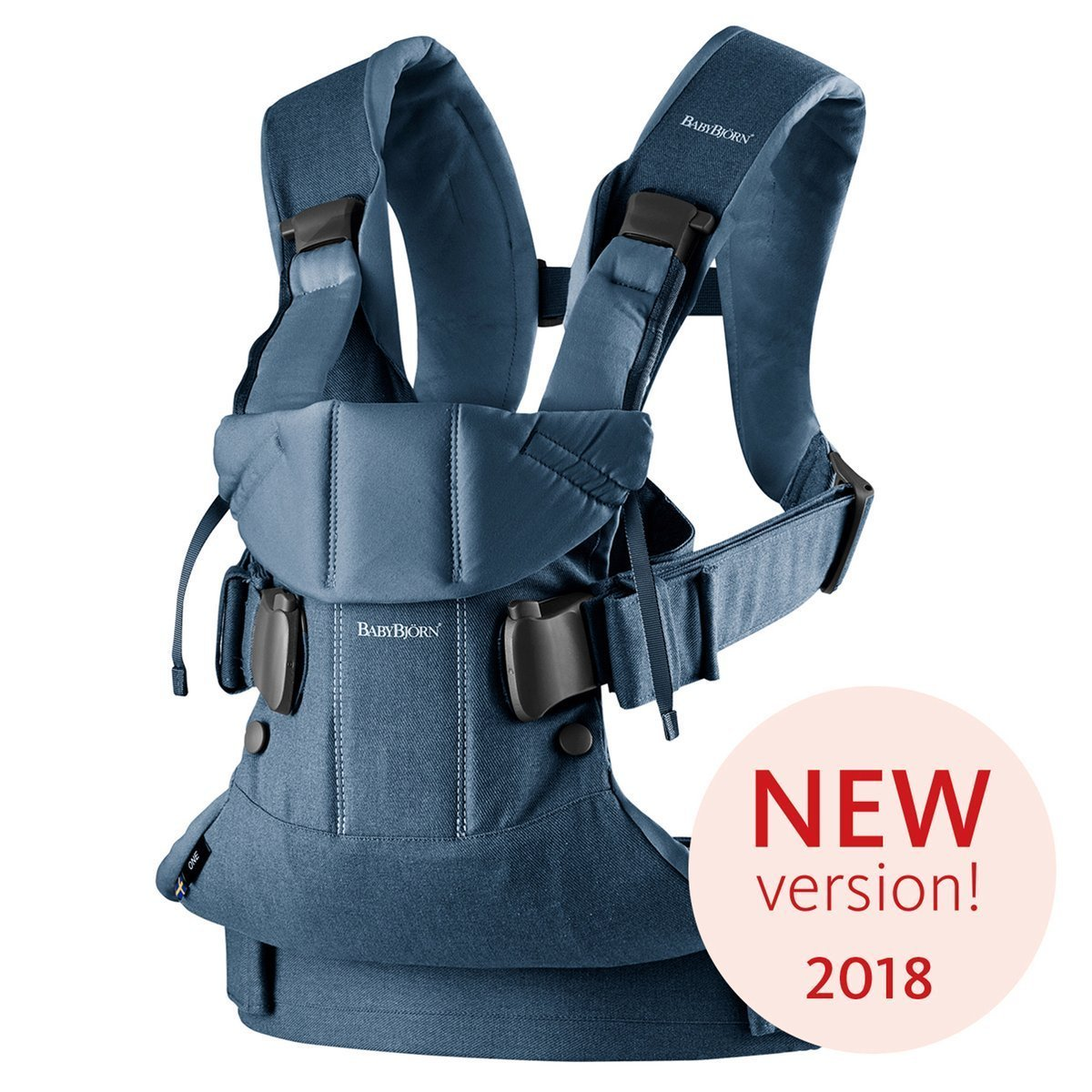 Ķengursoma BabyBjorn Baby Carrier ONE Cotton Mix Classic Denim / Midnight Blue 098051