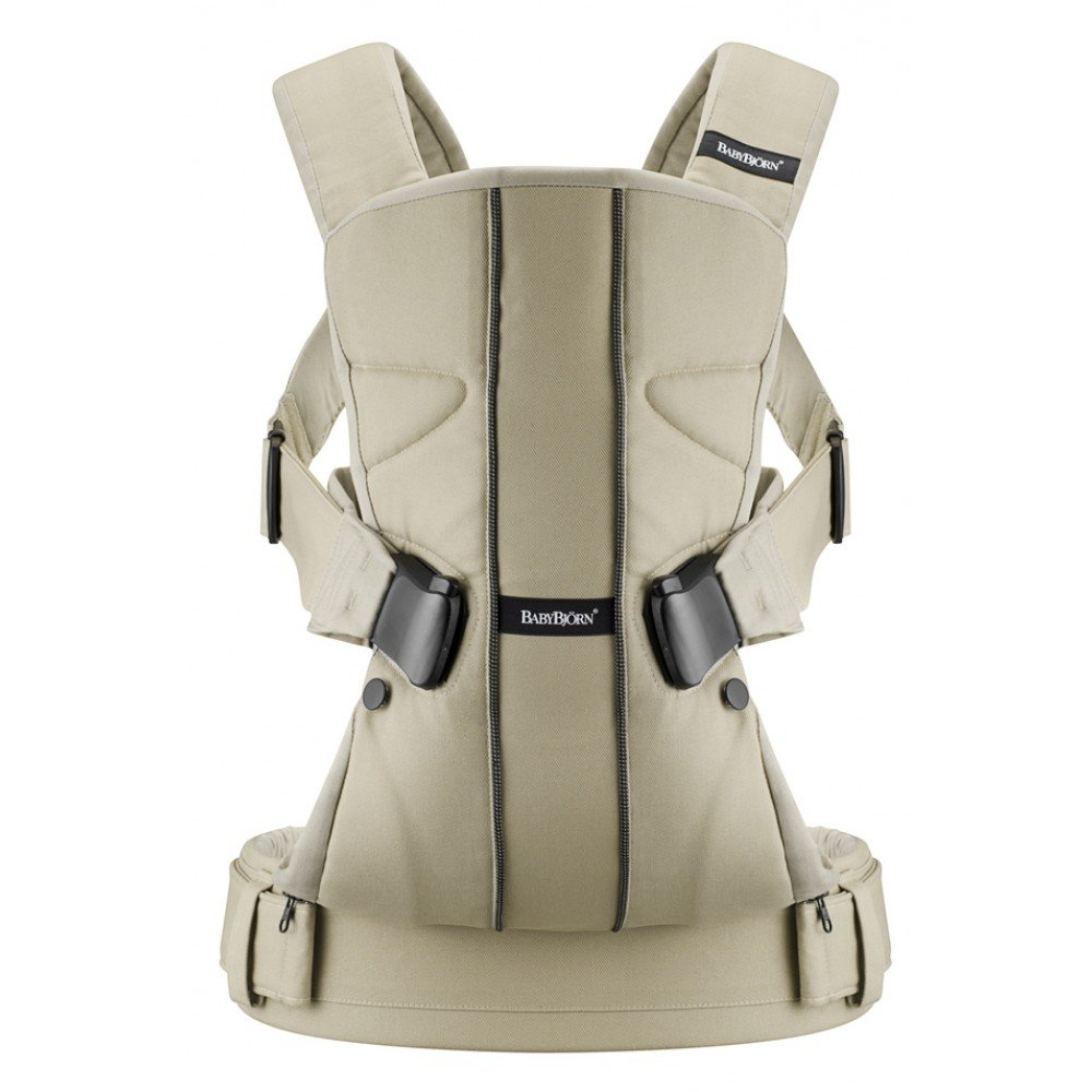 Ķengursoma BabyBjorn Baby Carrier ONE Cotton Mix Khaki/Beige 091026