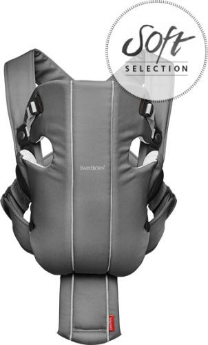 Ķengursoma BabyBjorn Baby Carrier ORIGINAL Cotton Jersey dark grey/grey 023084
