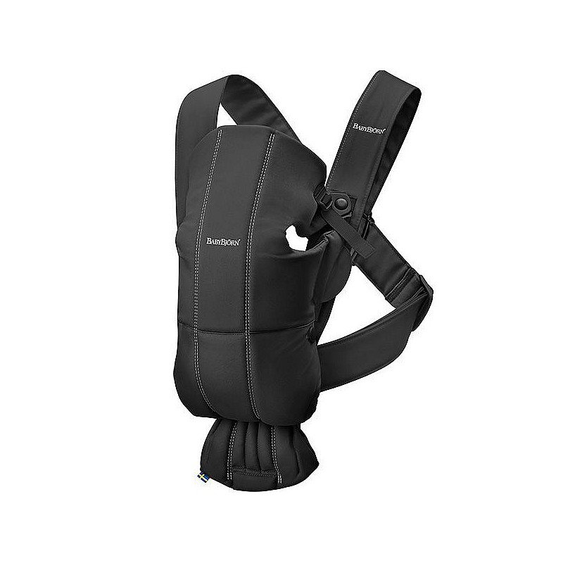Ķengursoma BabyBjorn Mini Baby Carrier Black Cotton